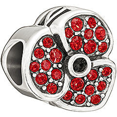 Chamilia Charm Poppy Swarvoski Crystal And Silver