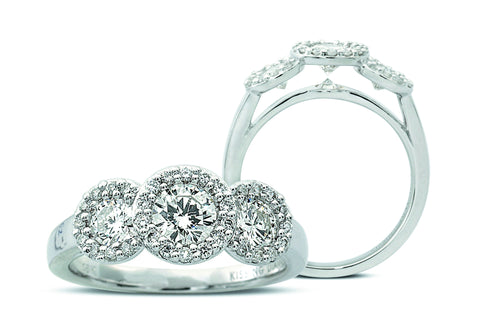 Kissing Diamonds Ring Cluster