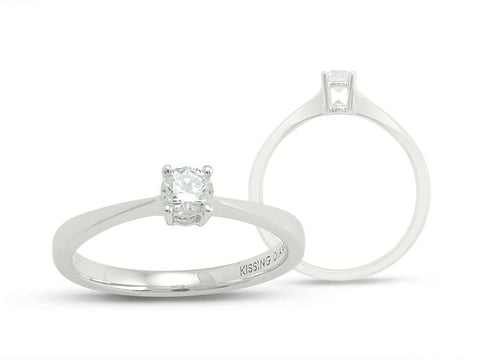 Kissing Diamonds Ring Solitaire Diamond