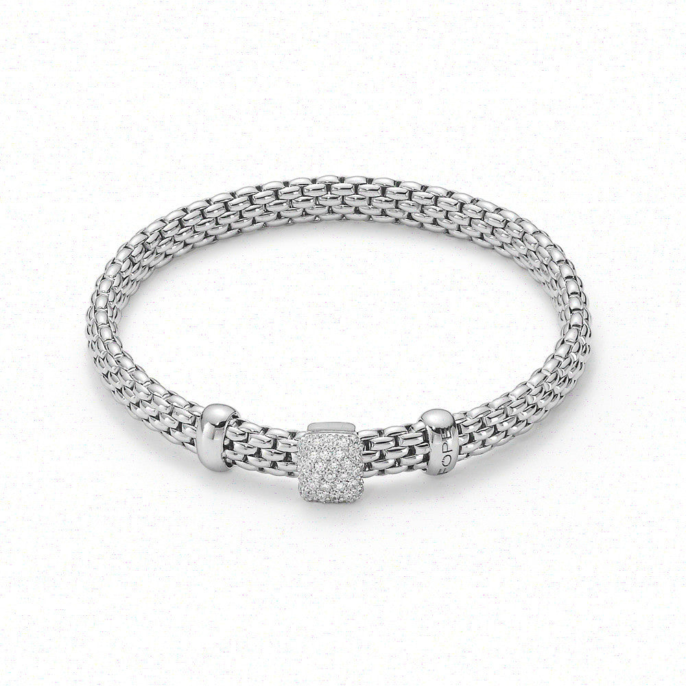 Fope Bracelet Vendome Diamond Set Rondels 18ct White Gold
