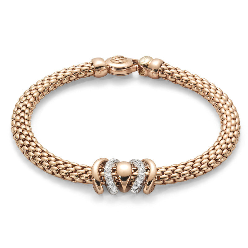 Fope Bracelet Virginia Flex'It 18ct White And Rose Gold