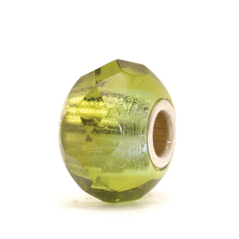 Trollbeads Bead Green Prism Glass