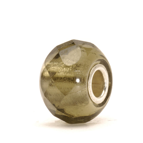 Trollbeads Bead Grey Prism Glass
