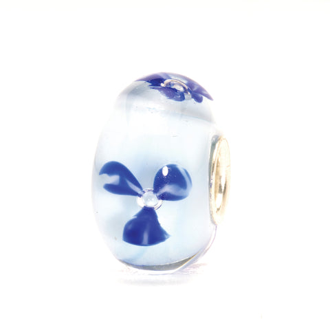 Trollbeads Bead Light Blue Flower