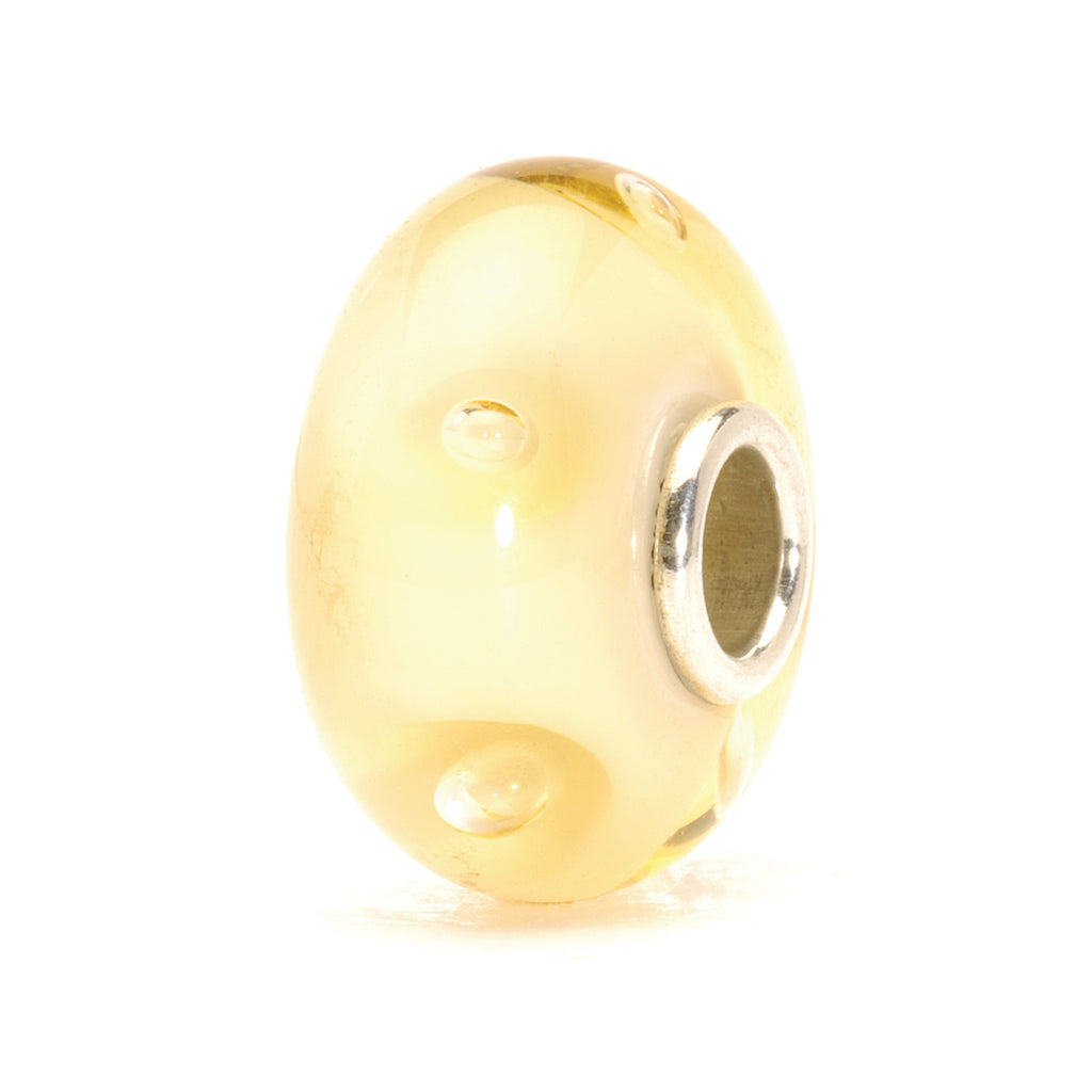 Trollbeads Bead Glass Beige Bubbles D