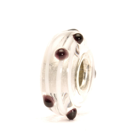 Trollbeads Bead Glass Black Dot D