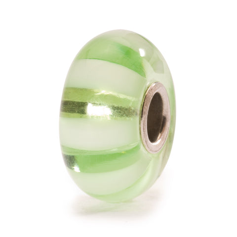 Trollbeads Bead Light Green Stripe