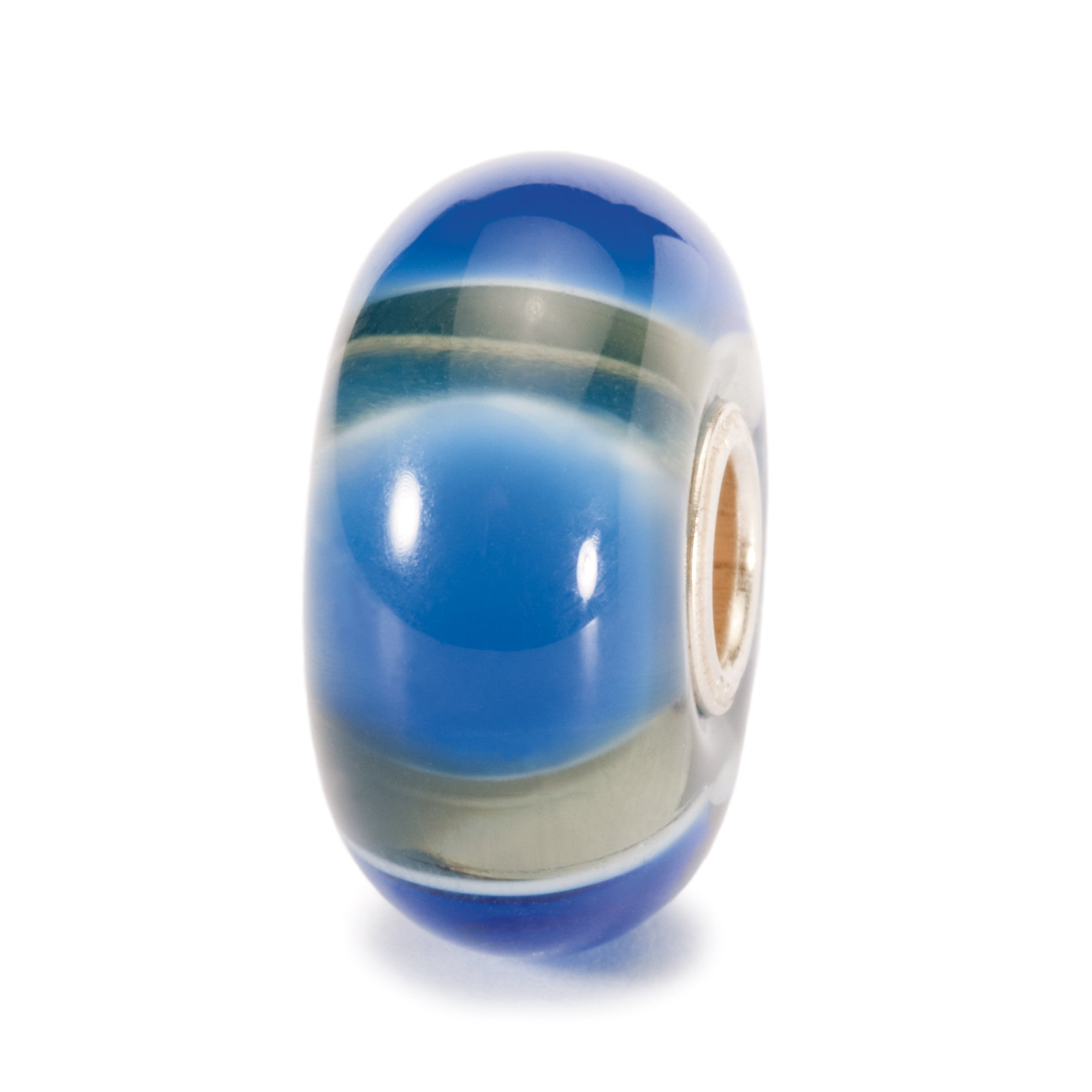 Trollbeads Bead Glass Blue Symmetry D