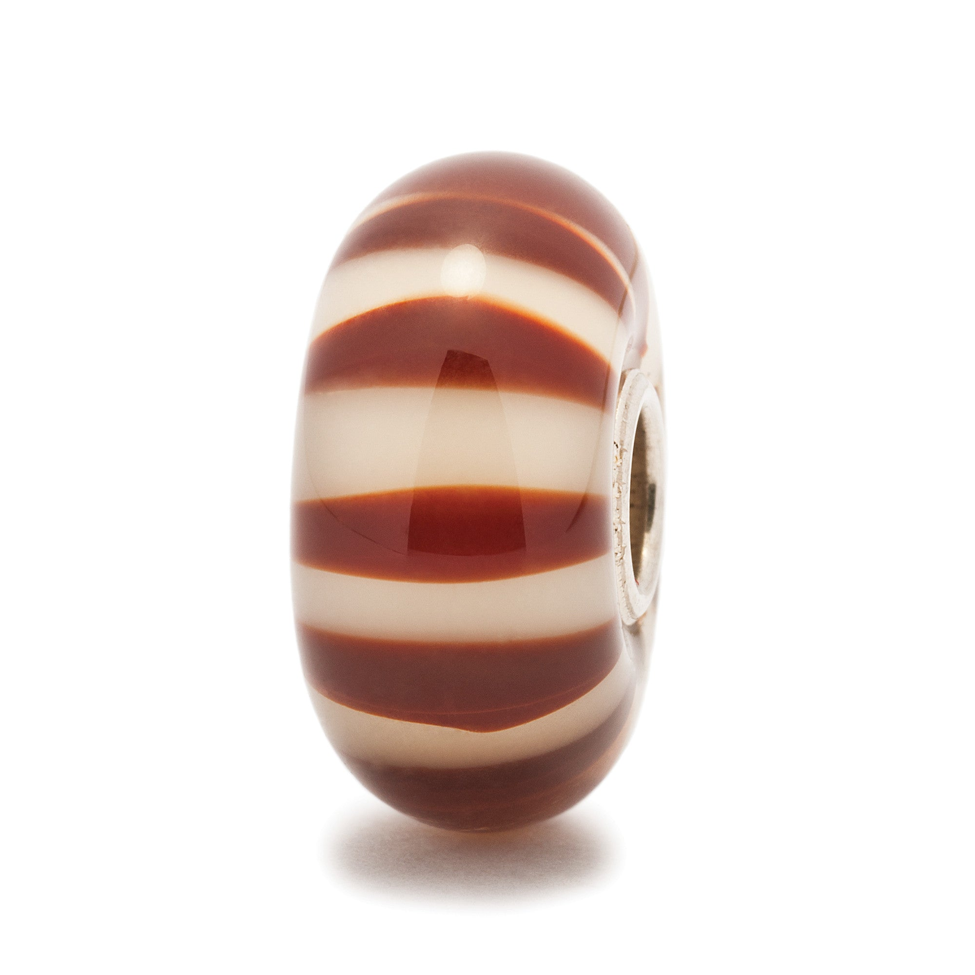 Trollbeads Bead Glass Chocolate Stripe