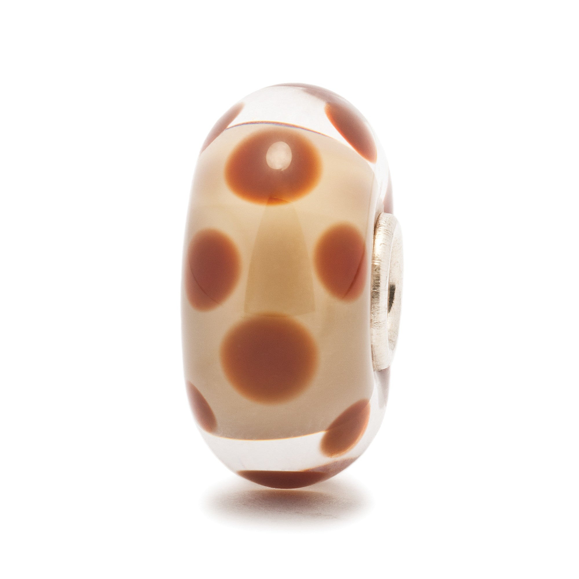 Trollbeads Bead Glass Chocolate Dot