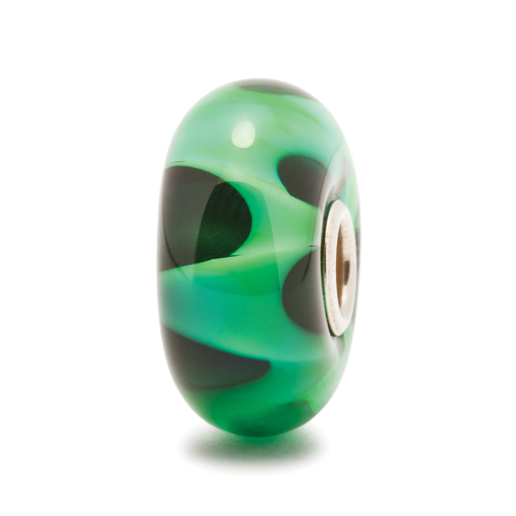 Trollbeads Bead Green Wave