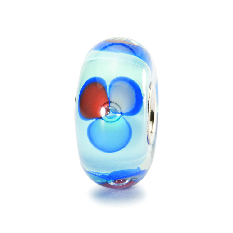 Trollbeads Bead Glass Blue Fantasy