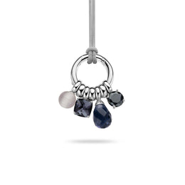 Ti Sento Pendant Silver And Multi Stone 4 Charm 6617GB