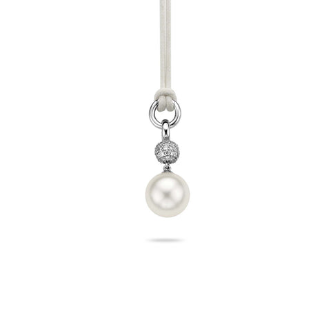 Ti Sento Pendant Silver With White Cubic Zirconia And Pearl Drop