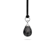 Ti Sento Pendant Silver And Black Cubic Zirconia Pear 6641ZB