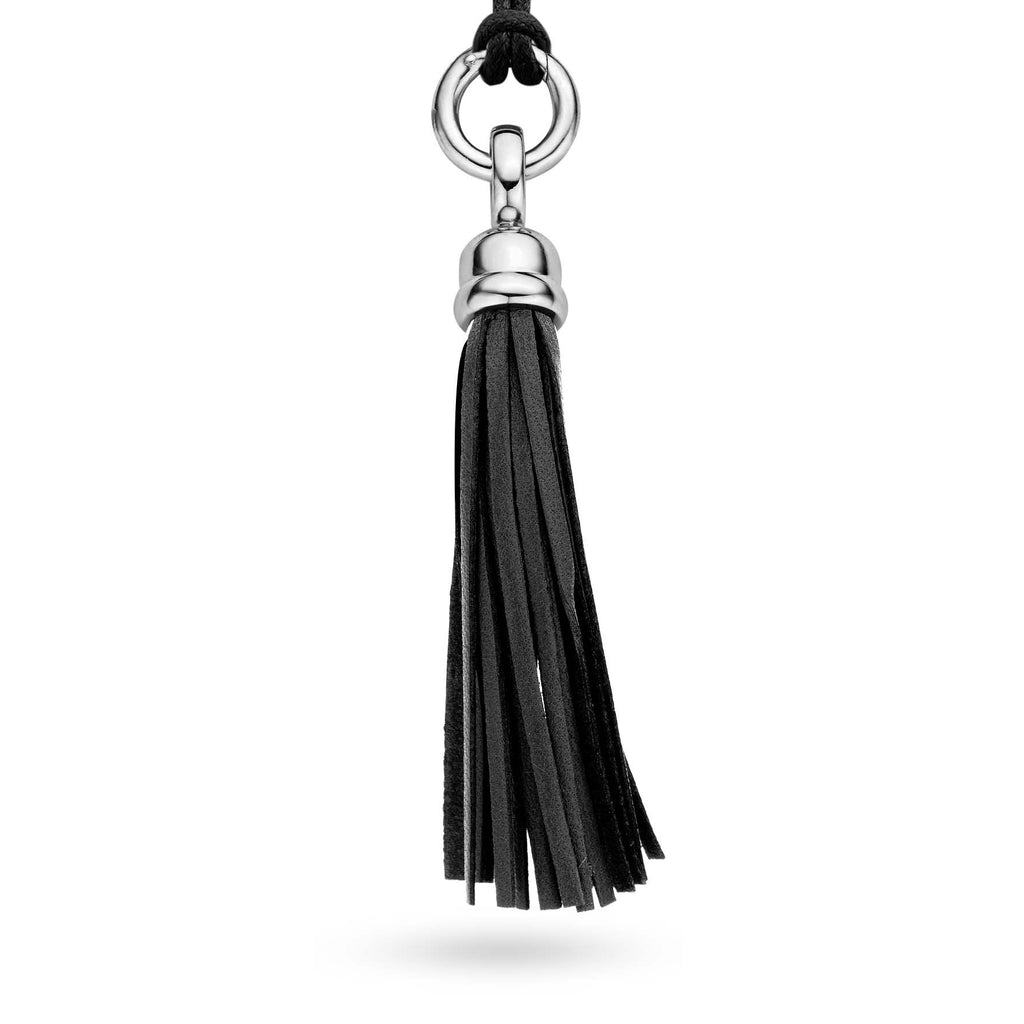 Ti Sento Pendant Silver And Leather Tassel