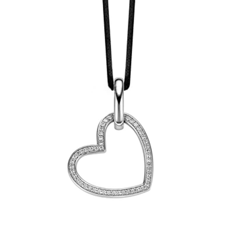 Ti Sento Necklace Open Heart