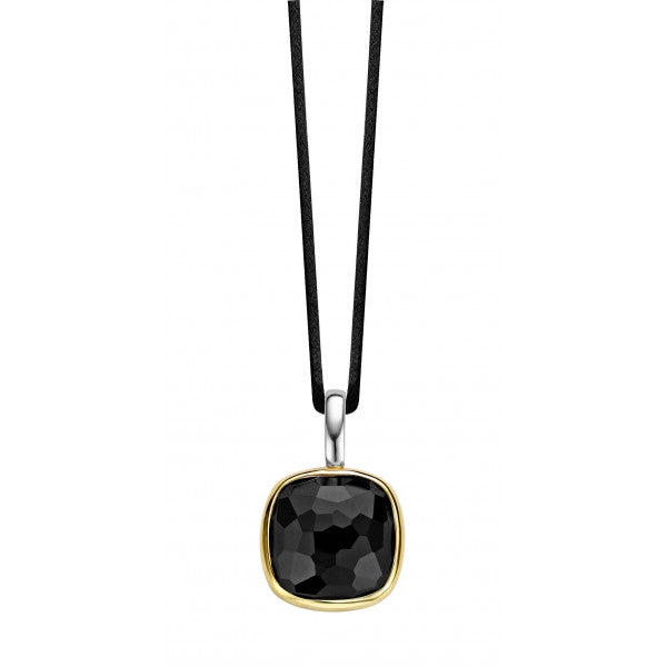 Ti Sento Pendant Black Zirconia Yellow Gold