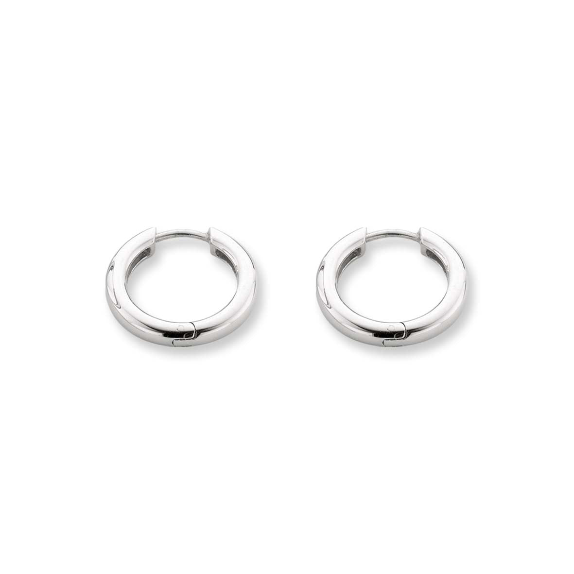 Ti Sento Earrings Hoop Silver Plain 7210SI