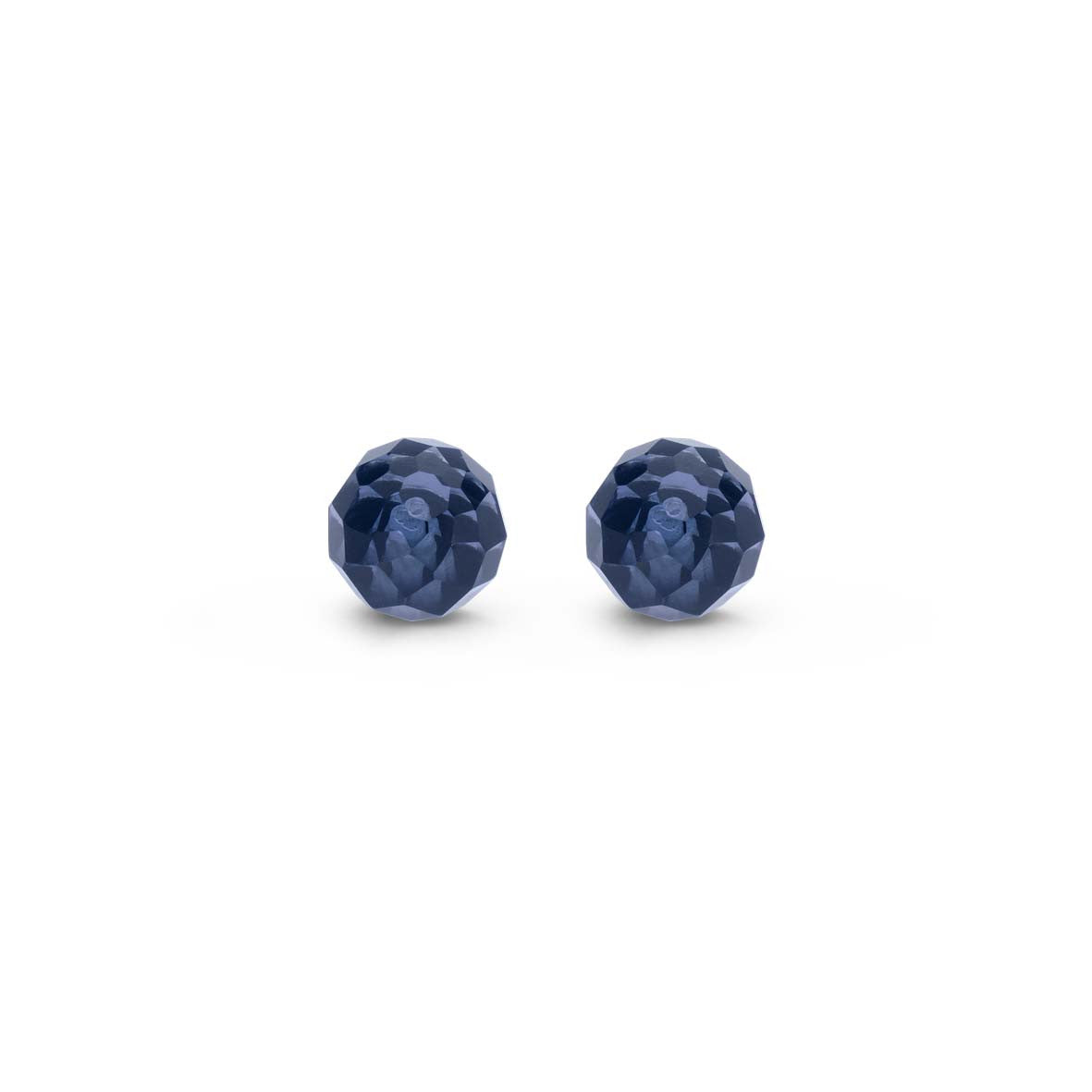 Ti Sento Earrings Silver And Blue Cubic Zirconia Ball Stud