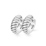 Ti Sento Earrings Hoop Silver 18mm Heavy Twist 7584ST