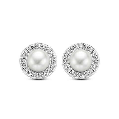 Ti Sento Earrings Milano Pearl Silver