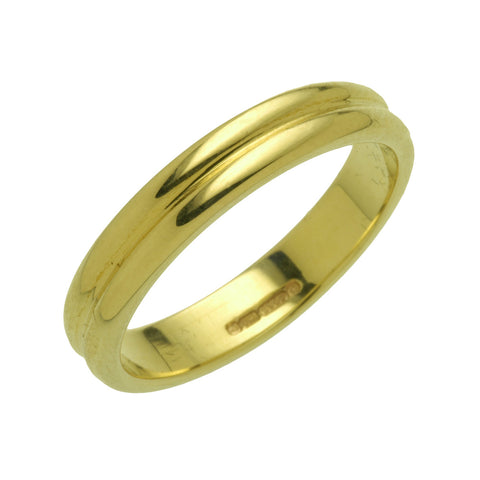Charles Green Ridged Wedding Ring