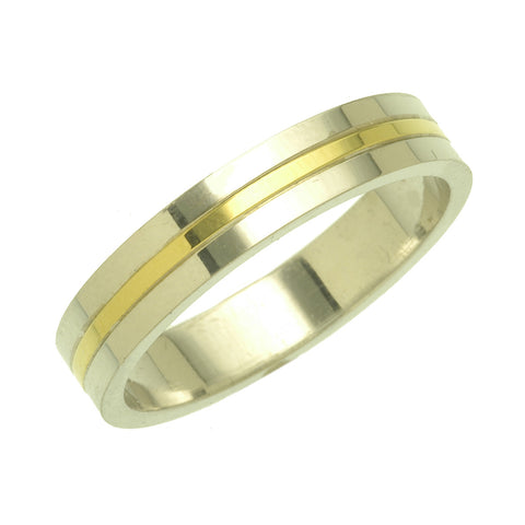 Charles Green 2 Colour Wedding Ring