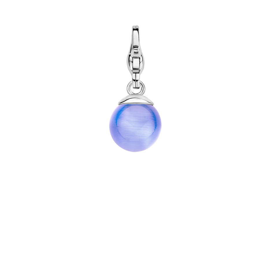 Ti Sento Charm Charming Silver And Aqua Bead