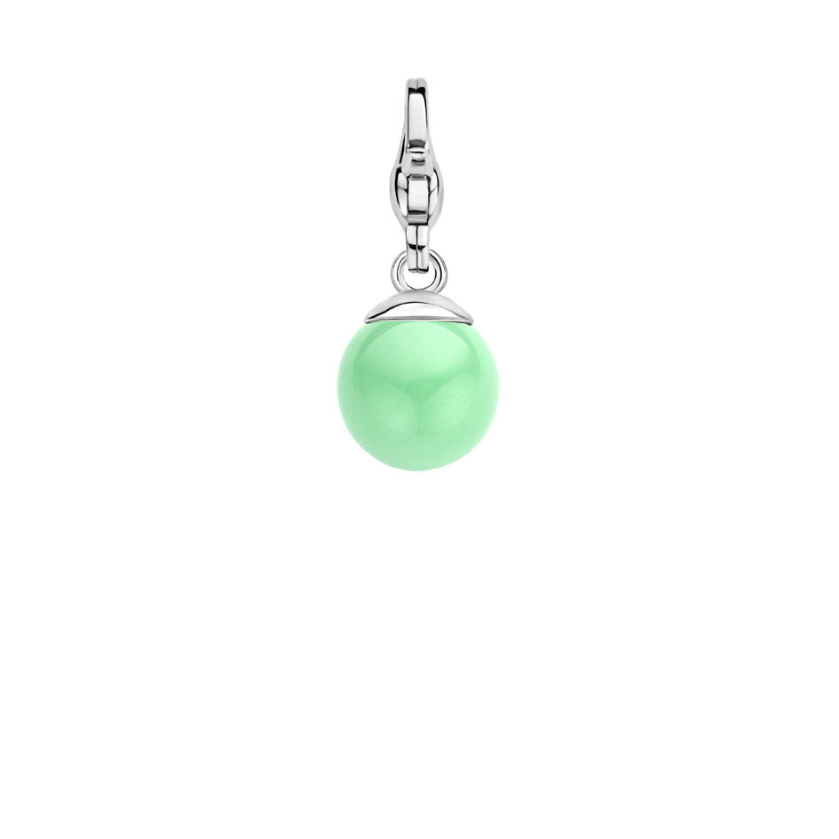 Ti Sento Charm Charming Silver and Minty Catseye Bead D