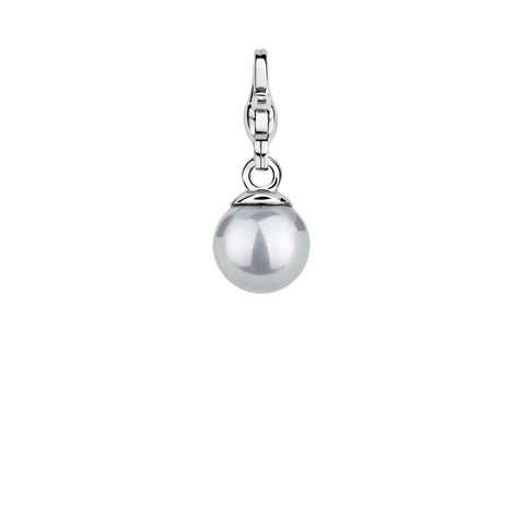 Ti Sento Charm Charming Silver And Grey Pearl Bead