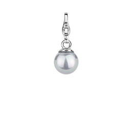 Ti Sento Charm Charming Silver And Grey Pearl Bead 8055PG