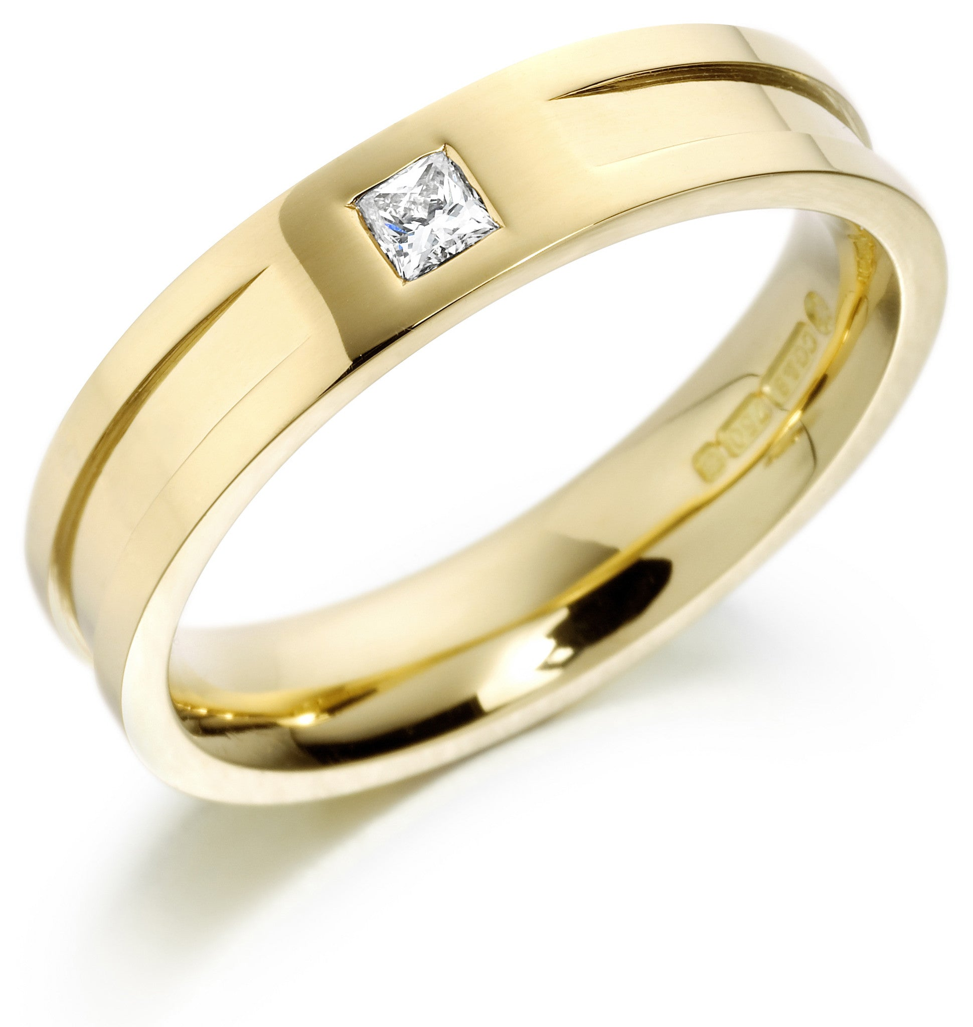 Charles Green Diamond Set Ridge Wedding Ring