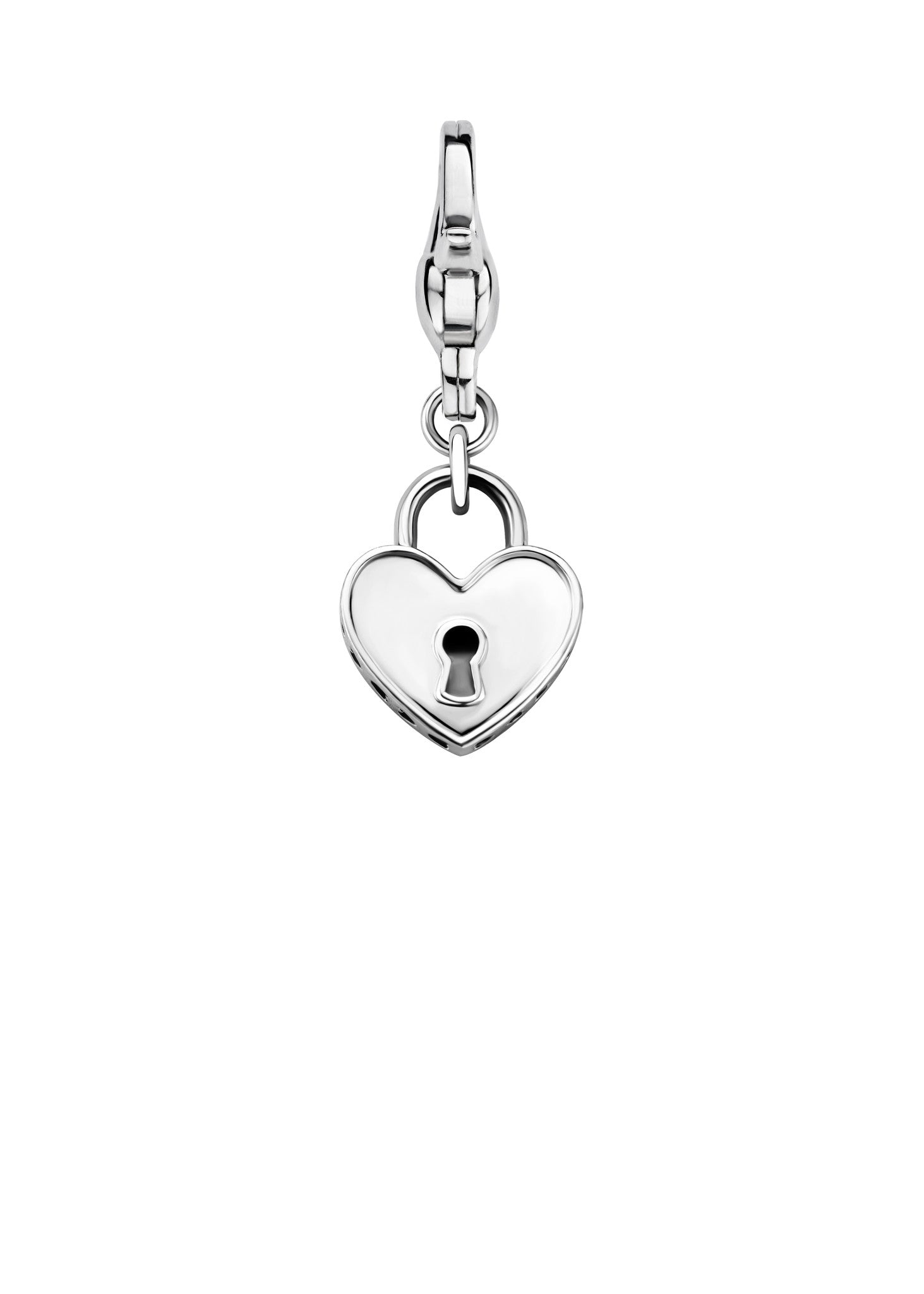 Ti Sento Charm Charming Locked Heart