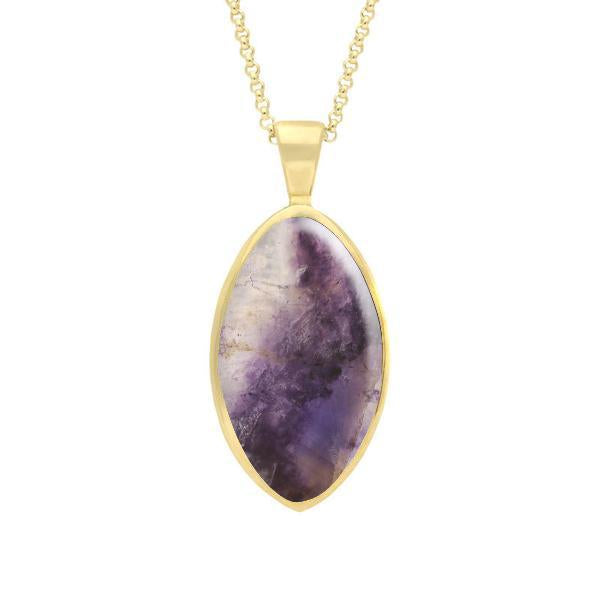 9ct yellow gold blue john oval necklace p080 c w sellors fine 9ct yellow gold blue john oval necklace aloadofball Image collections