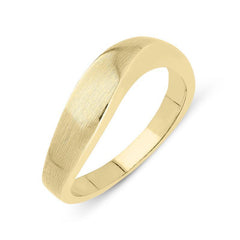 9ct Yellow Gold Satin Finish Wave Ring