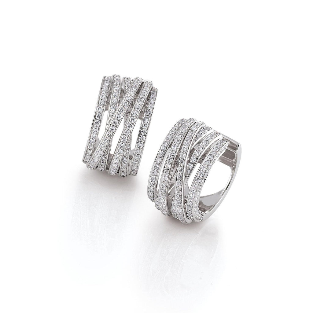 Al Coro 18ct White Gold 1.56ct Diamond Mezzaluna Earrings