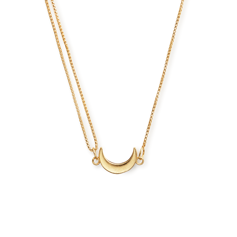 Alex And Ani Gold Moon Pull Chain Necklace
