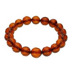 Amber Round Faceted Bracelet