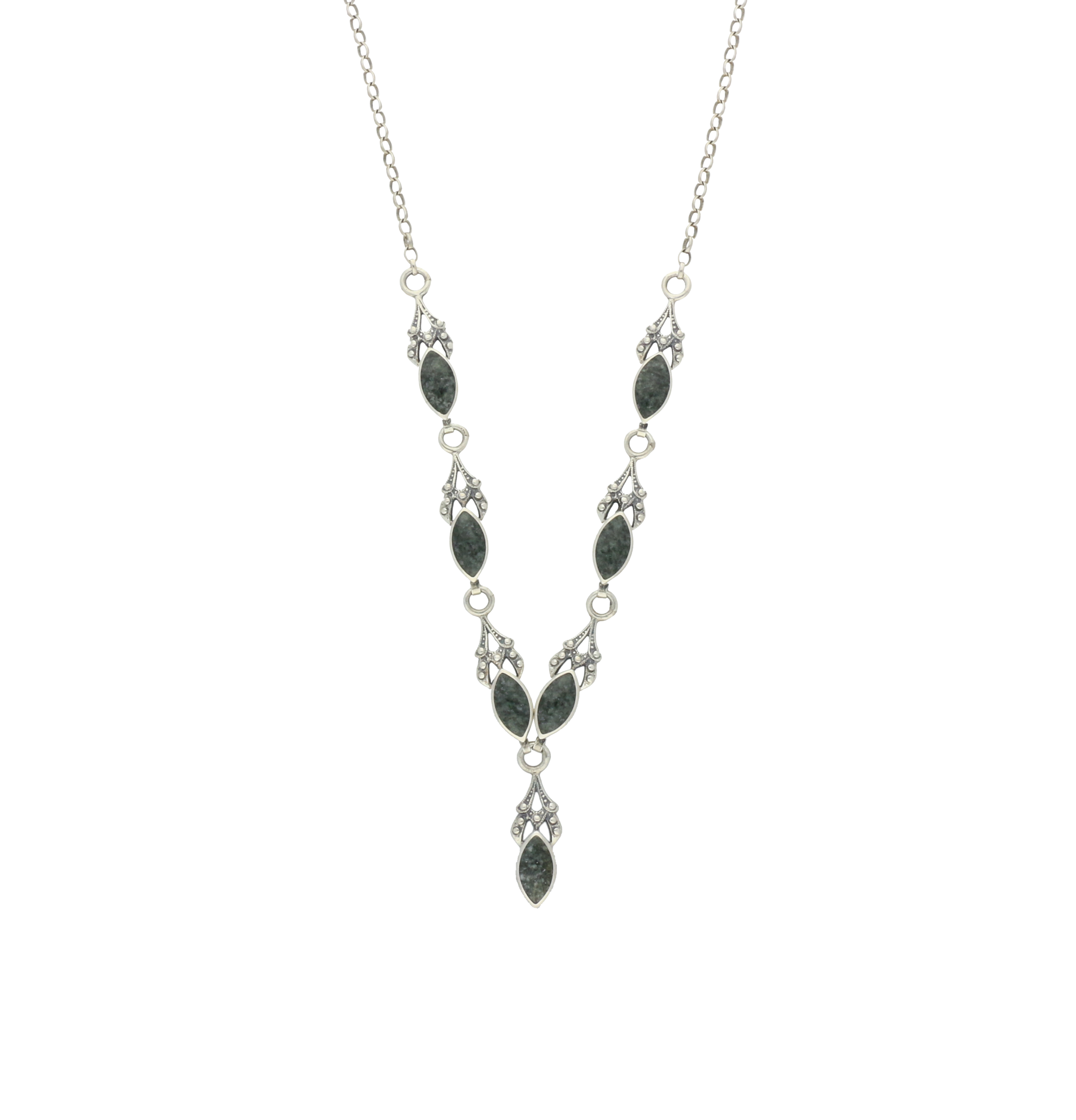 Preseli Bluestone Necklace Marquise Silver