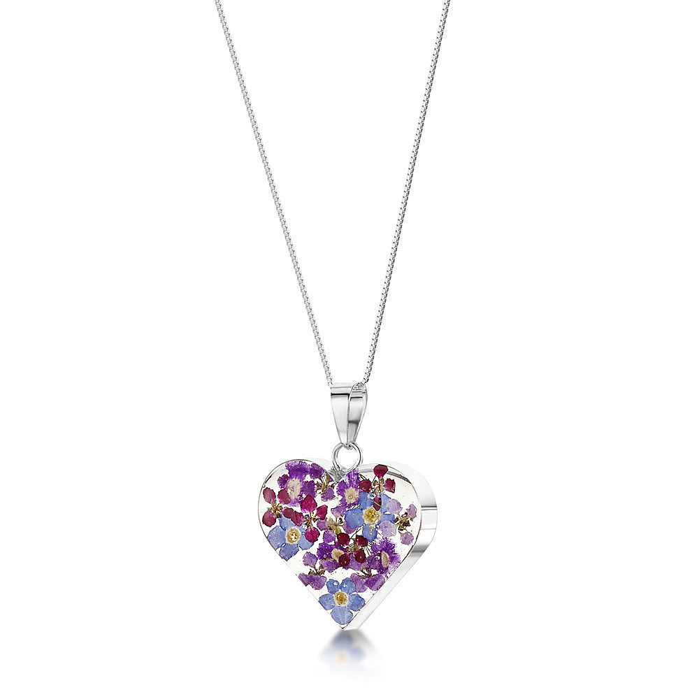 Shrieking Violet Necklace Heart Medium Purple Haze Silver