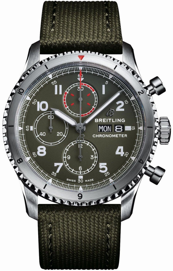 Breitling Watch Aviator 8 Chronograph 43 Curtiss P-40 Warhawk A133161A1L1X1