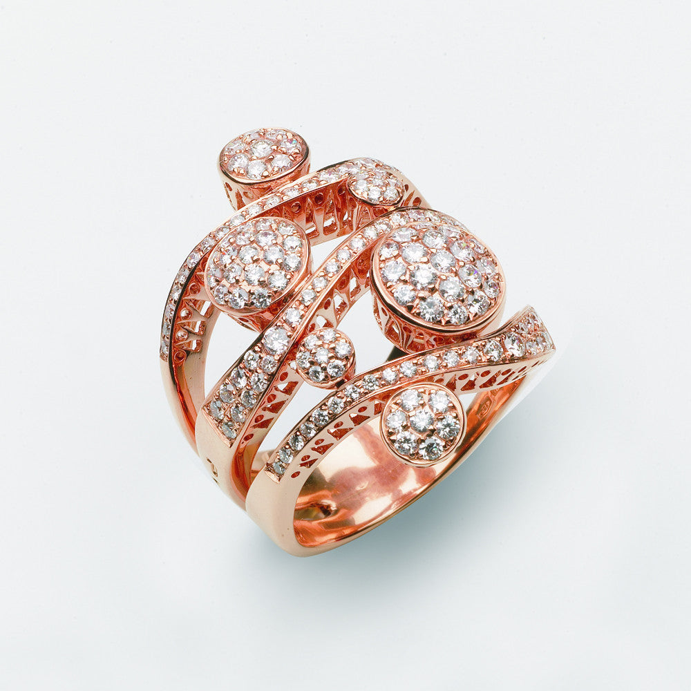 Ponte Vecchio Ring Rose Gold And Diamond