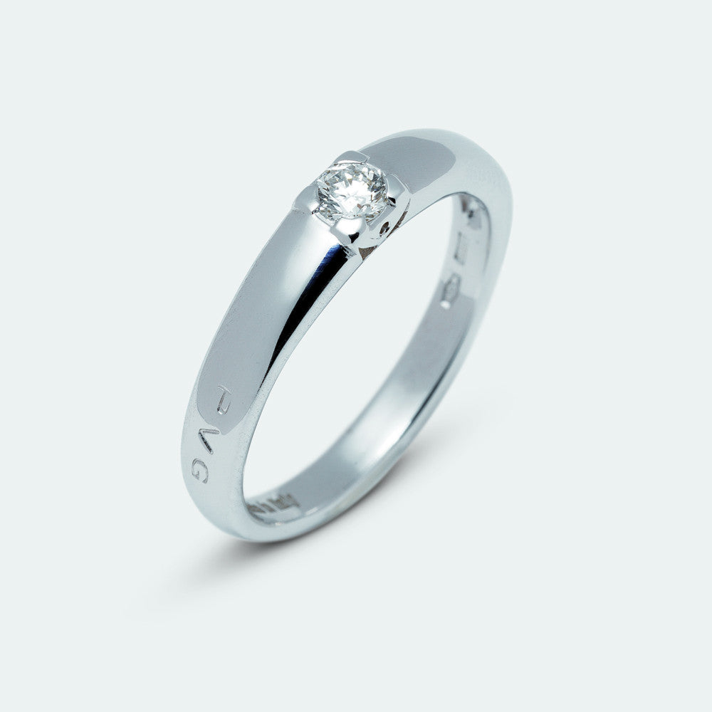 Ponte Vecchio Ring Diamond Brilliant 18ct White Gold