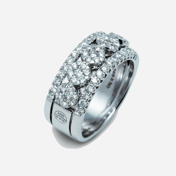 Ponte Vecchio White Gold And Diamond Ring