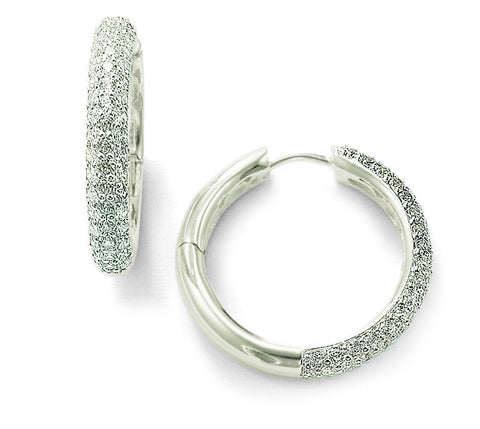Thomas Sabo Earrings Glam & Soul White Zirconia Hoop