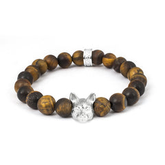 Cat Fever Sterling Silver Tiger's Eye European Bracelet
