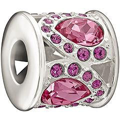 Chamilia Royal Sterling Silver Pink And Purple Crystal Charm D
