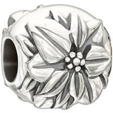 Chamilia Sterling Silver Poinsettia December Charm D