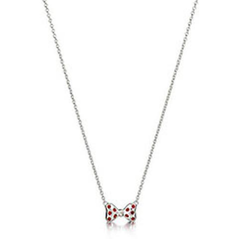 Chamilia Sterling Silver Red Crystal Minnie Mouse Necklace D